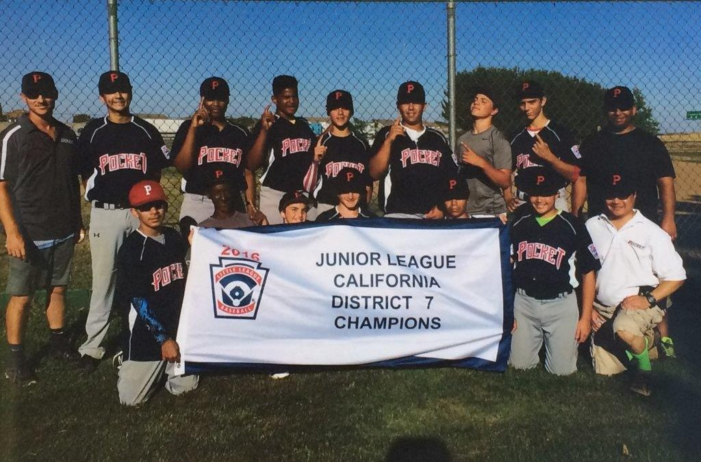 Congratulations Pocket Little League Juniors, California District 7 Champions!